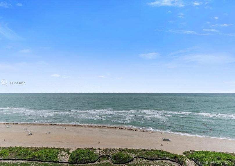 Spectacular direct ocean view from the best line, NE corner w/widest wrap-around balcony. Oceanview
