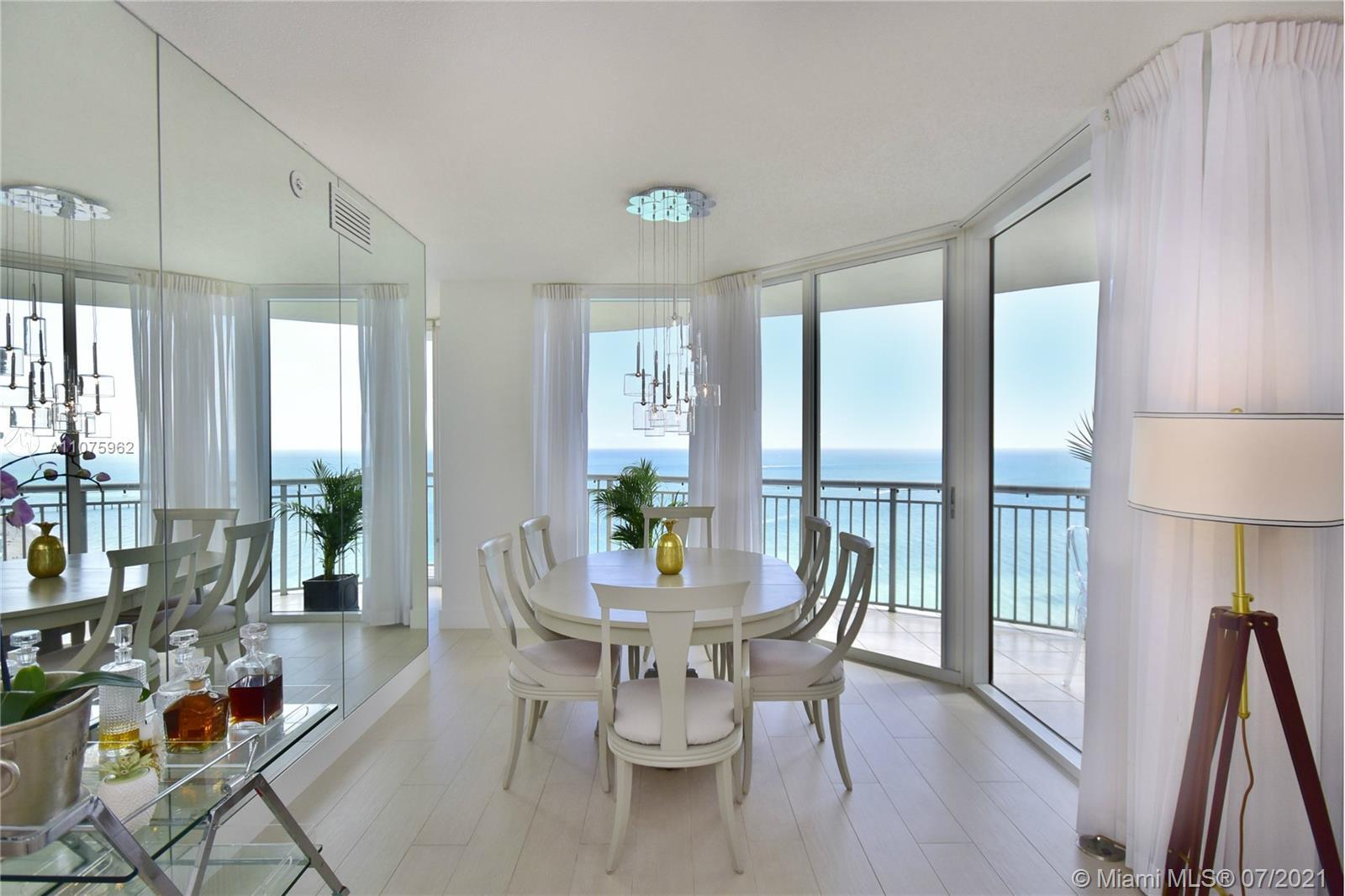 Most desirable corner residence facing south east with dazzling direct ocean views. Unit was totally