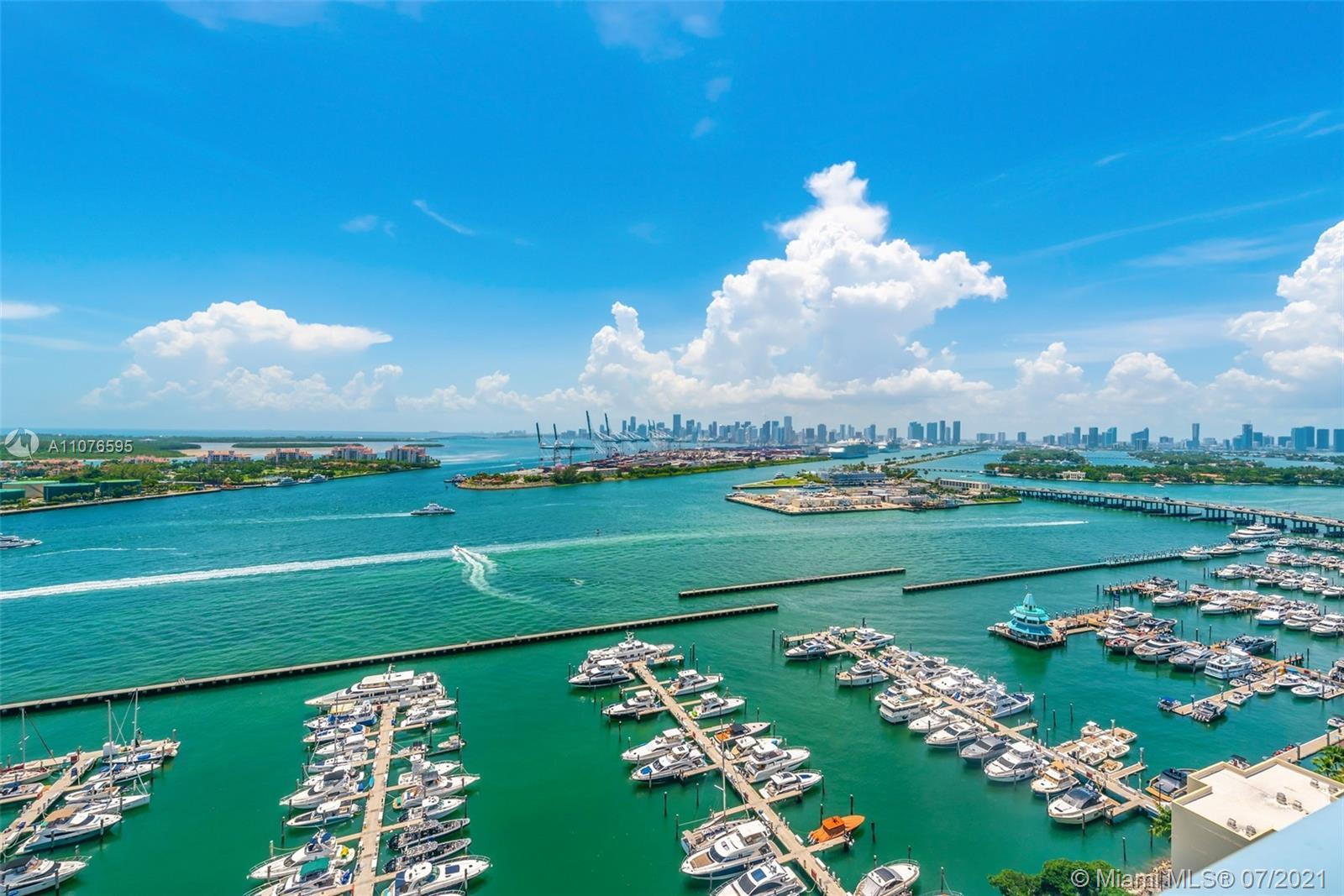 Downtown/Sunset facing large 1 bed 1 bath Yacht Club @Portofino. Perfectly situated in most desired