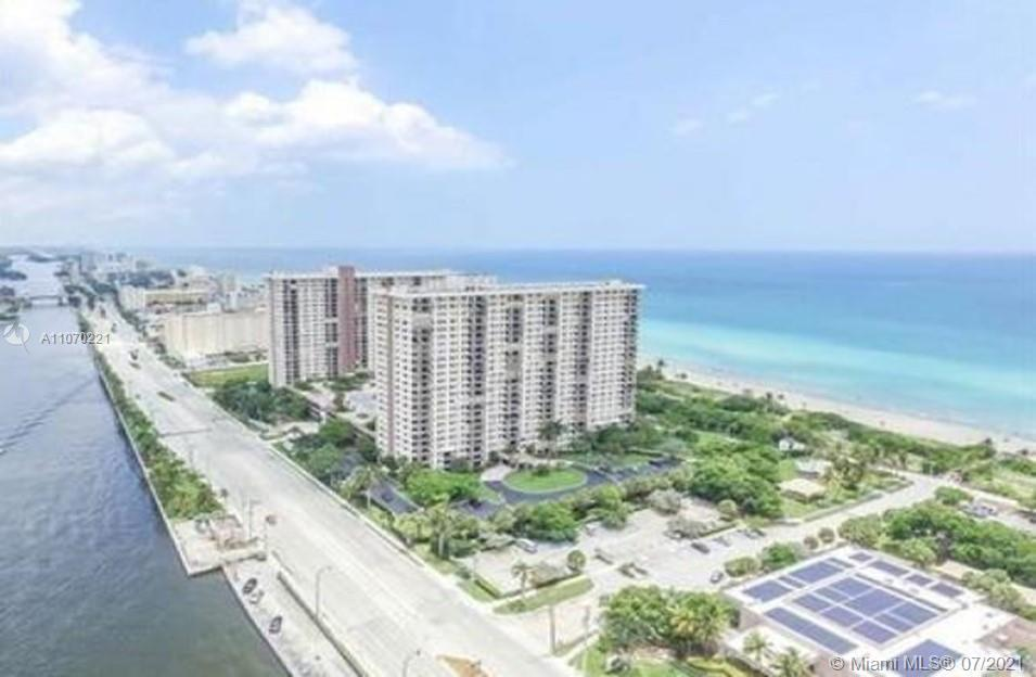 Largest (1088 sft) move-in ready 1 BR/1B unit in Summit Towers ocean front condominium in Hollywood.