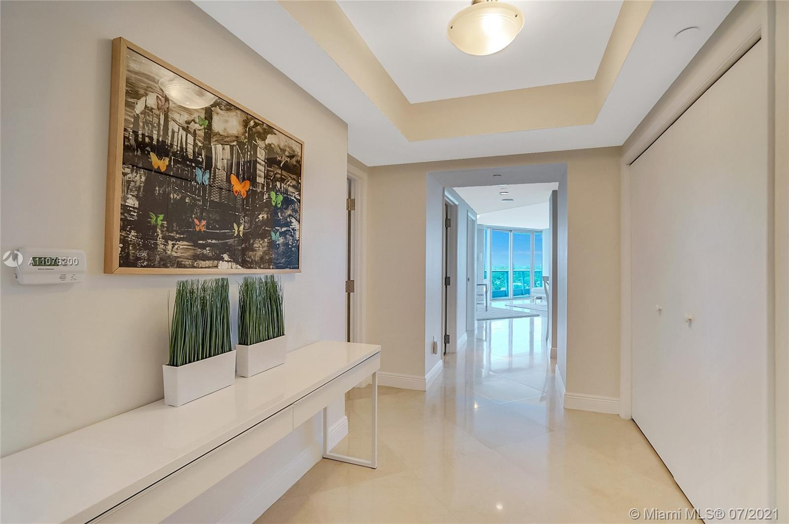 Beautiful corner unit located in the Azure Tower in Surfside on the beach. This unit has 2 full en s