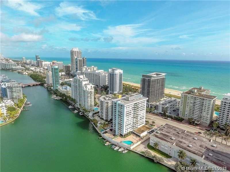 Spectacular Penthouse on desired Millionaire row! View of ocean from living room. Intercostal view f