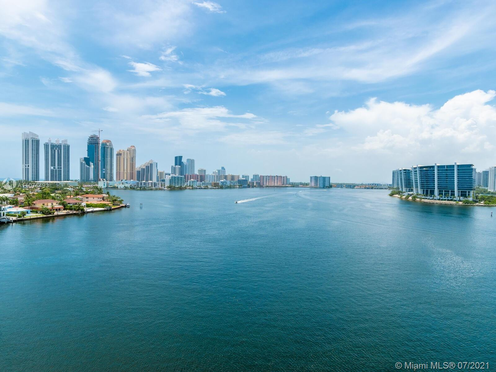 Stunning 3/3 corner, with Spectacular Intercostal and Ocean views. Unit features gorgeous porcelain