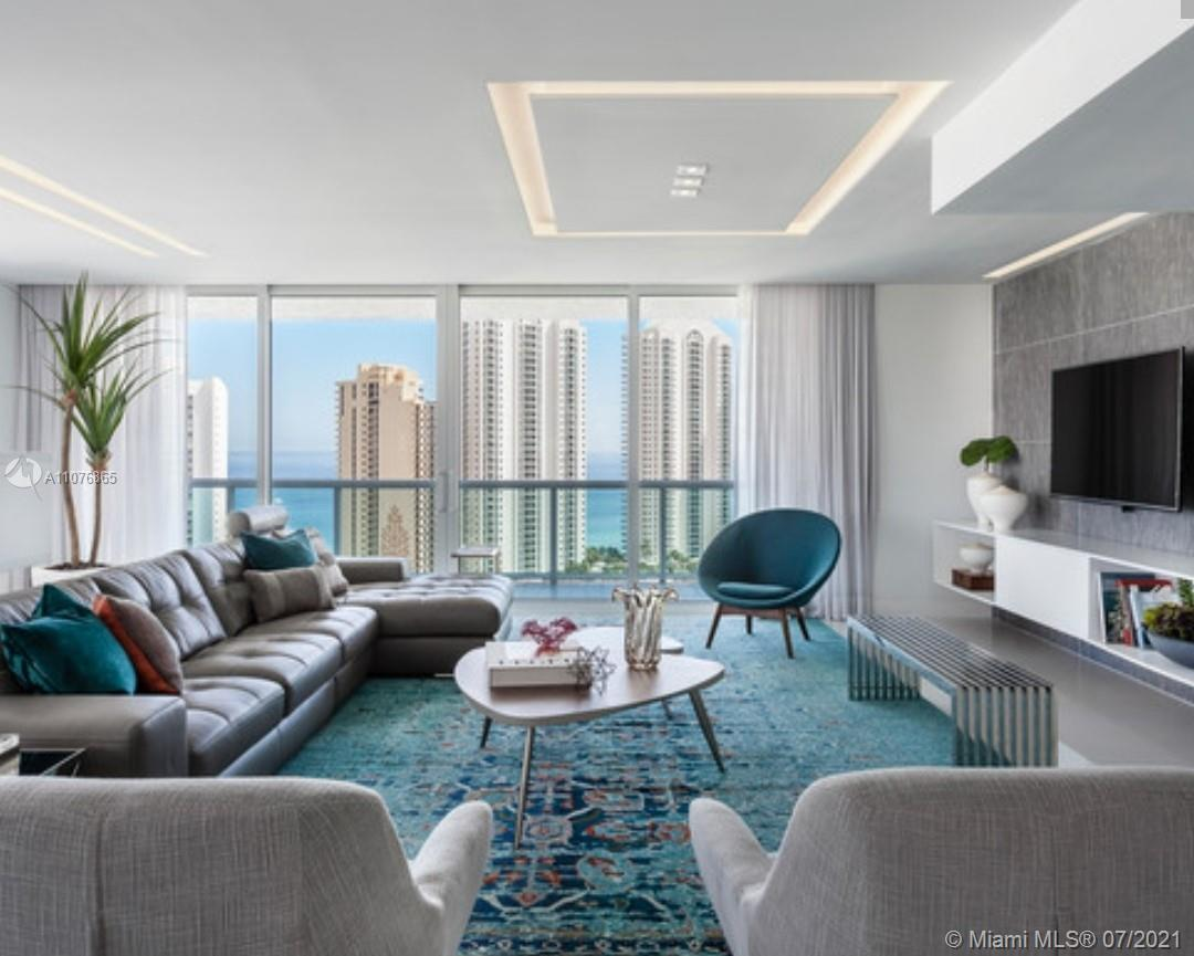 BEST VIEWS OF OCEAN, INTRACOASTAL & CITY  FROM THIS FANTASTIC HIGH CEILING CORNER UNIT, FULLY FURNIS