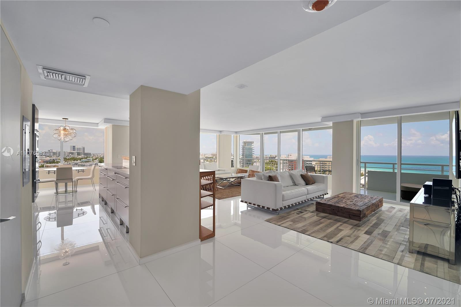 Renovated corner unit with wrap around balcony with views of ocean, Govt Cut and South Beach. New im