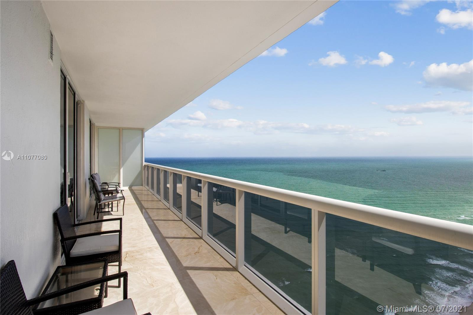 Breathtaking unobstructed Ocean, Intracoastal and city views from the 43rd floor. This amazing 3 bed