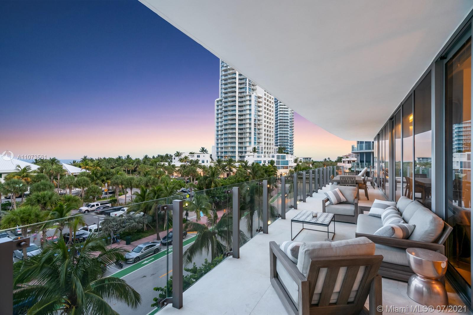 Enjoy private South of Fifth living in this luxury 4 bd 4.5 ba condo with direct ocean views. This 3