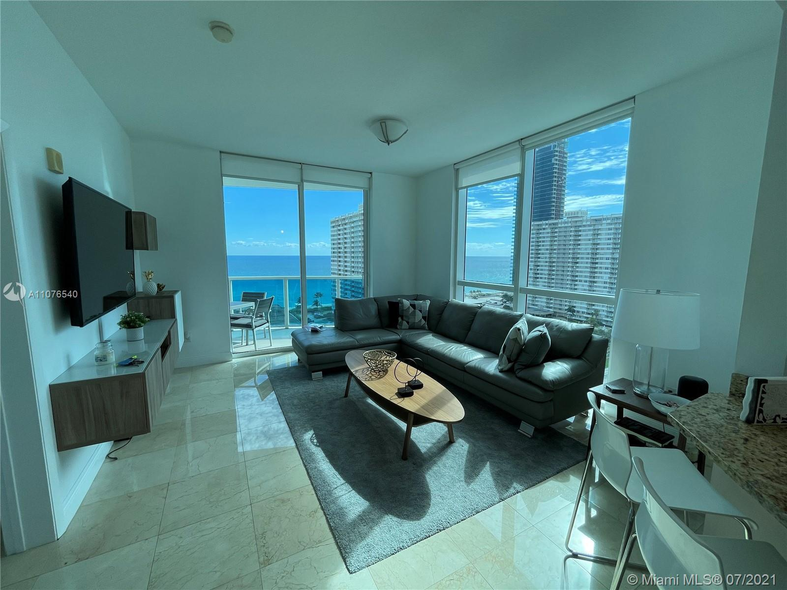 TurnKey beautiful furnished 3 bedroom 3 bath condo with beautiful ocean and intercoastal views. Full