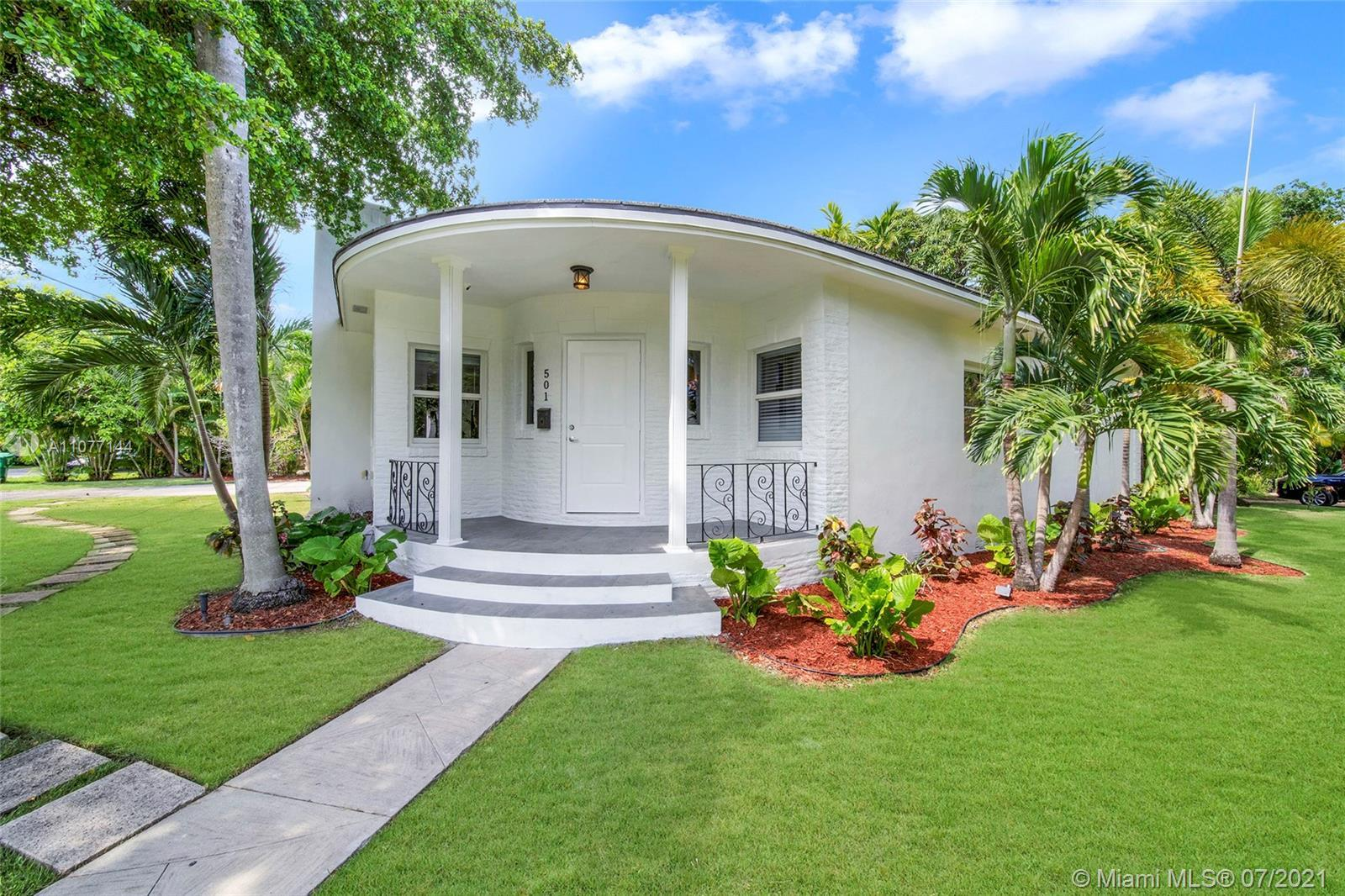 Superb mid-century house in beautiful Morningside, one of Miami's premier gated communities. This dr