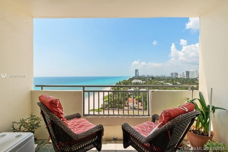 Very rare 2 bedroom 2 bath unit with total unobstructed views of the Ocean and South along GOLDEN BE