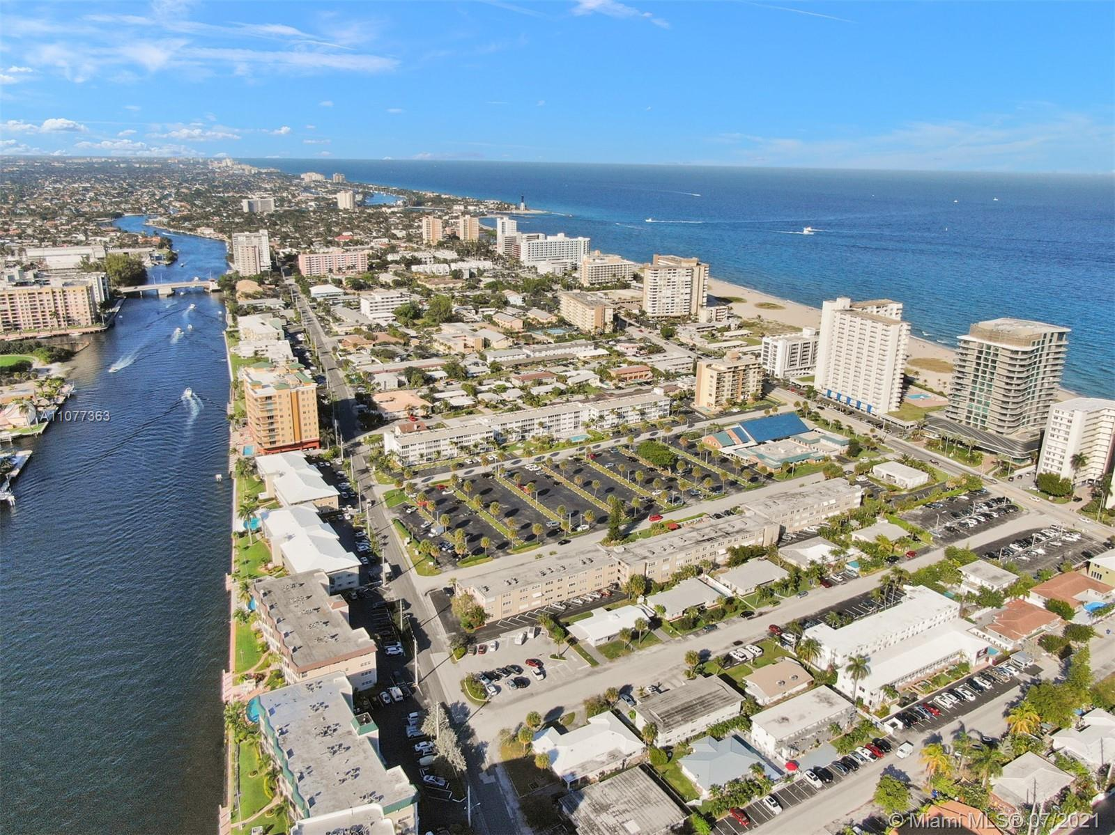 Well maintained spacious 2 bedroom 2 bath, 1,100 sq ft 1st floor condo located in Pompano Beach a 1/