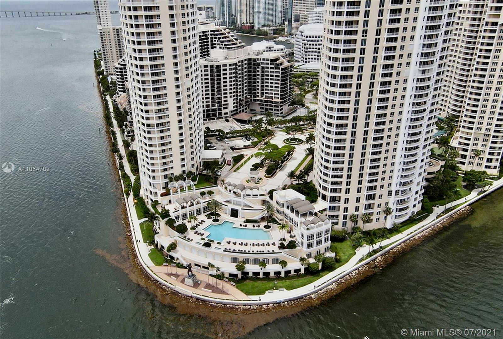 Luxurious 2-bedroom (Plus one converted), 2.5 bathrooms condo located in the exclusive Brickell Key