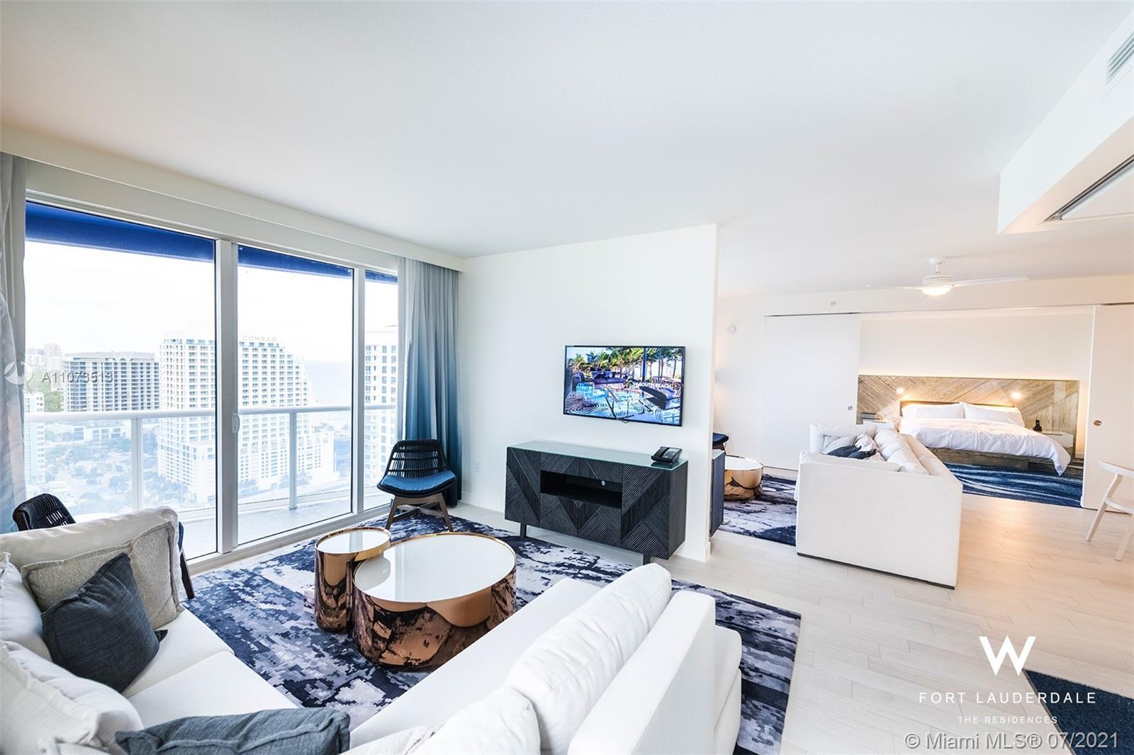 The Largest unit at the W Residences in the heart of Fort Lauderdale Beach. Fully furnished, beautif