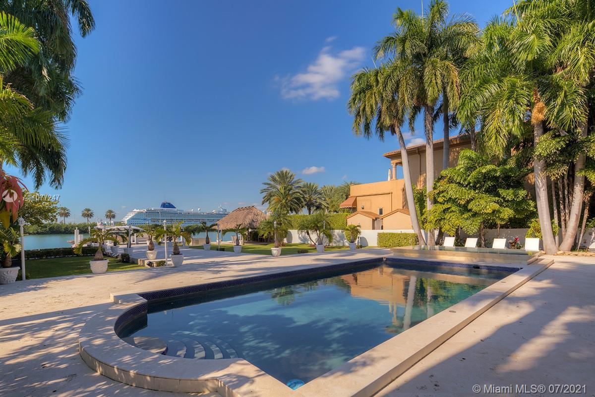 Located on prestigious Palm Island, one of Miami Beach's most sought after neighborhoods.  This eleg