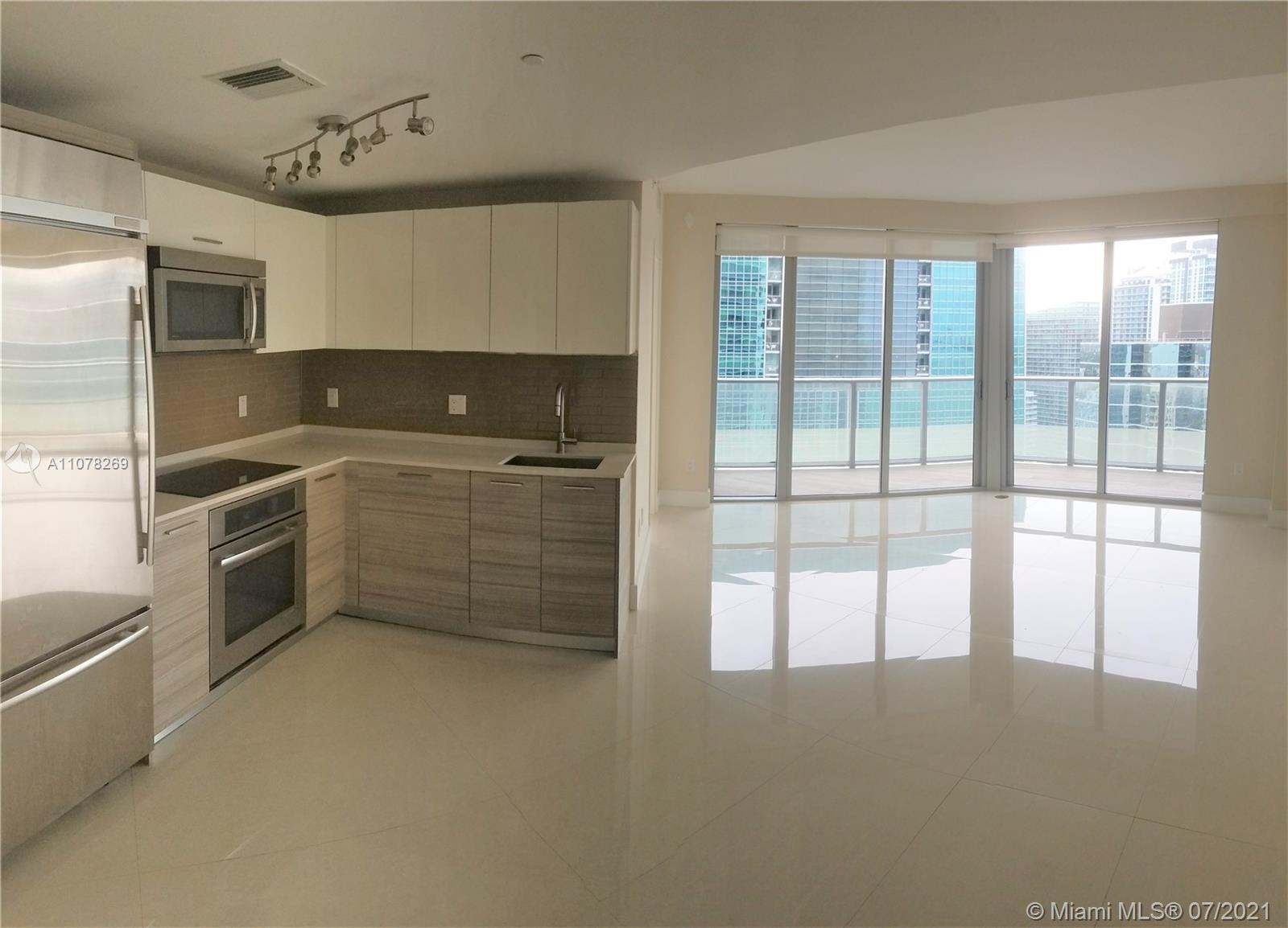Beautiful Corner Unit in the heart of Brickell. This apartment features 2 Bedrooms and 2.5 Bath with