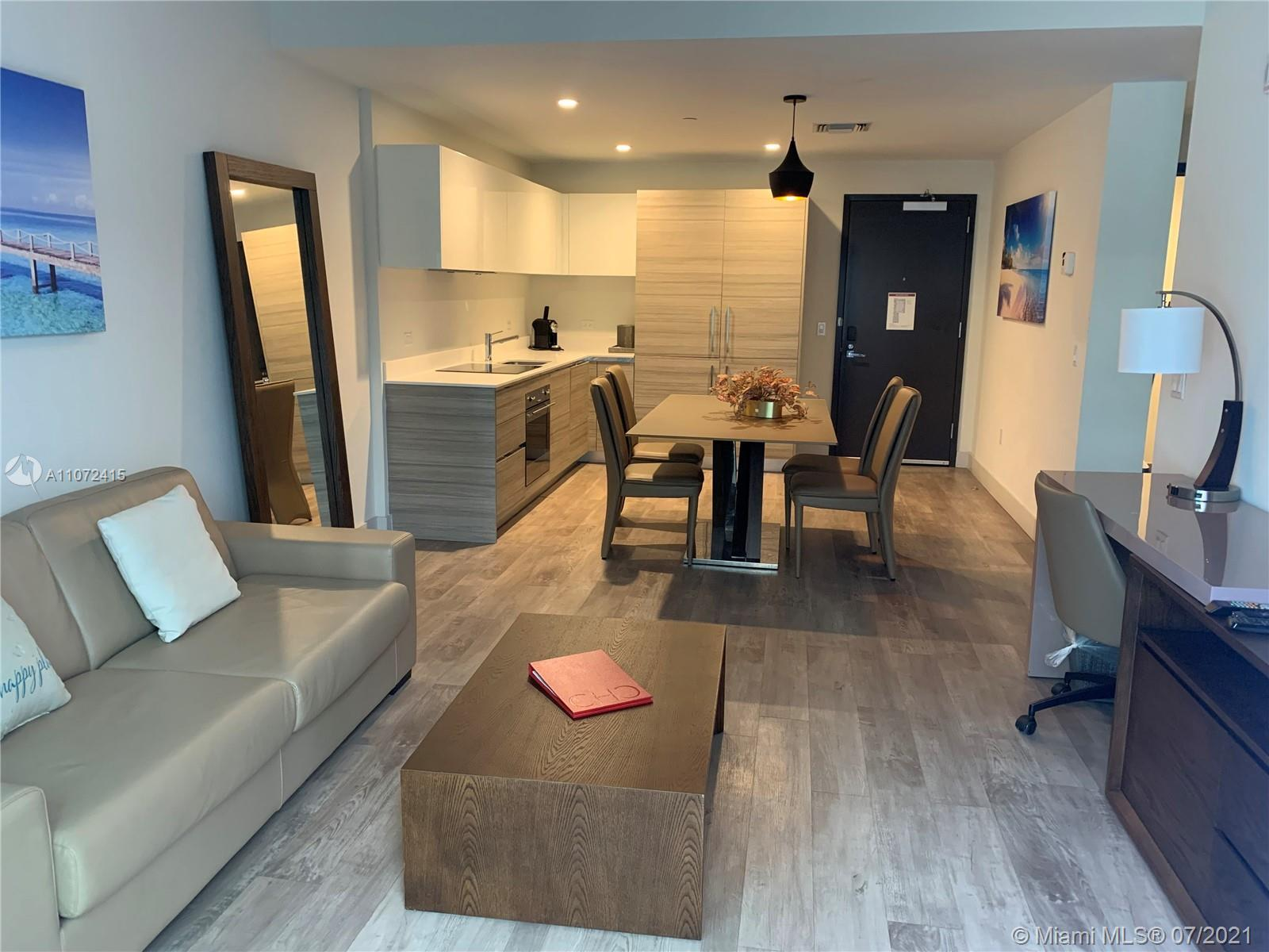 Best price in the building! Modern furnished unit steps to Hollywood Beach Boardwalk. Unit had a 95%
