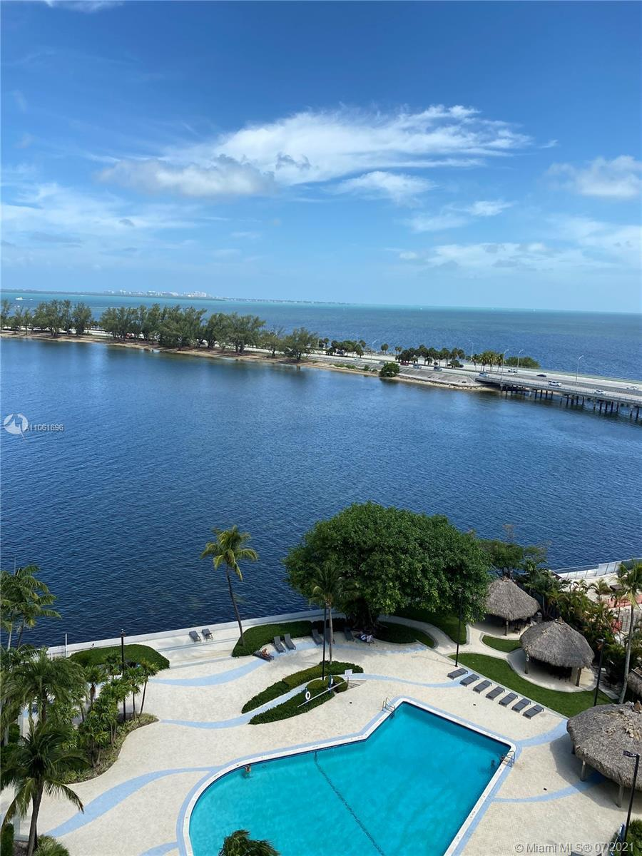 Unobstructed Open Bay Water views!One of the largest 1 bedrooms plus a large den with a closet.Renov