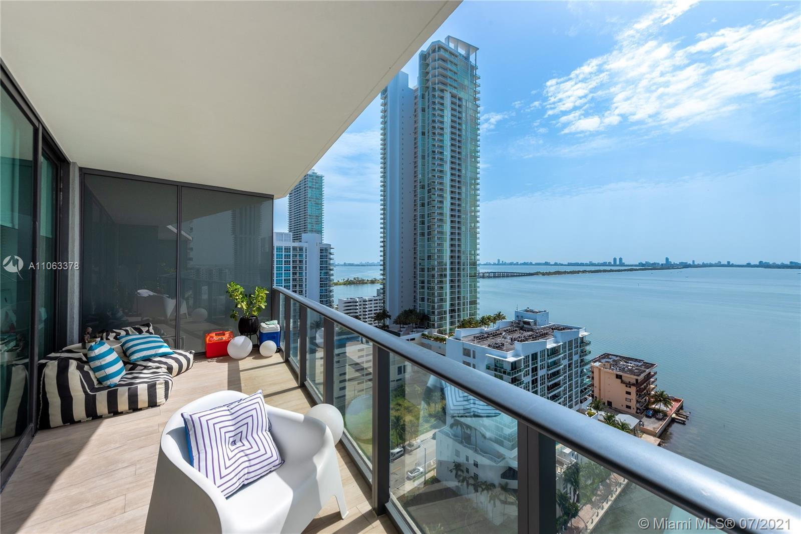 Stunning direct bay view Unit. Features beautiful kitchen and baths. Icon Bay is a full-service luxu