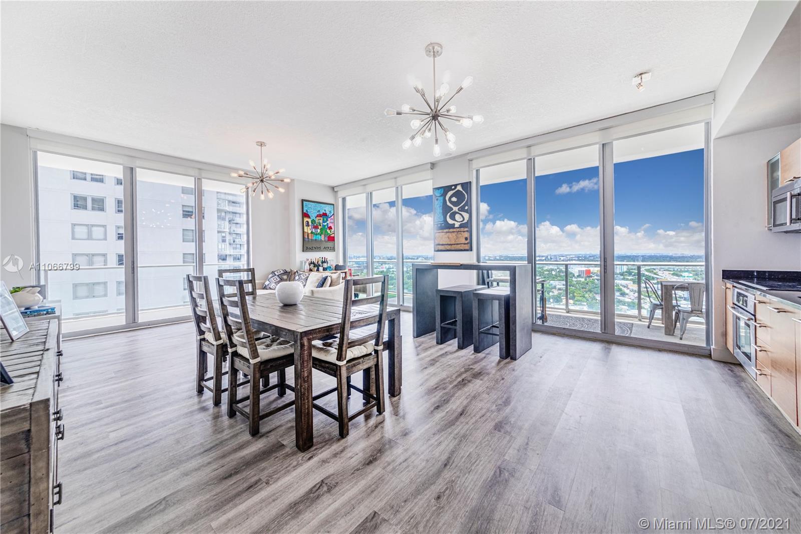 Stunning 2bd/2ba corner unit with breathtaking City & Bay views in prestigious Midtown Miami. Open f