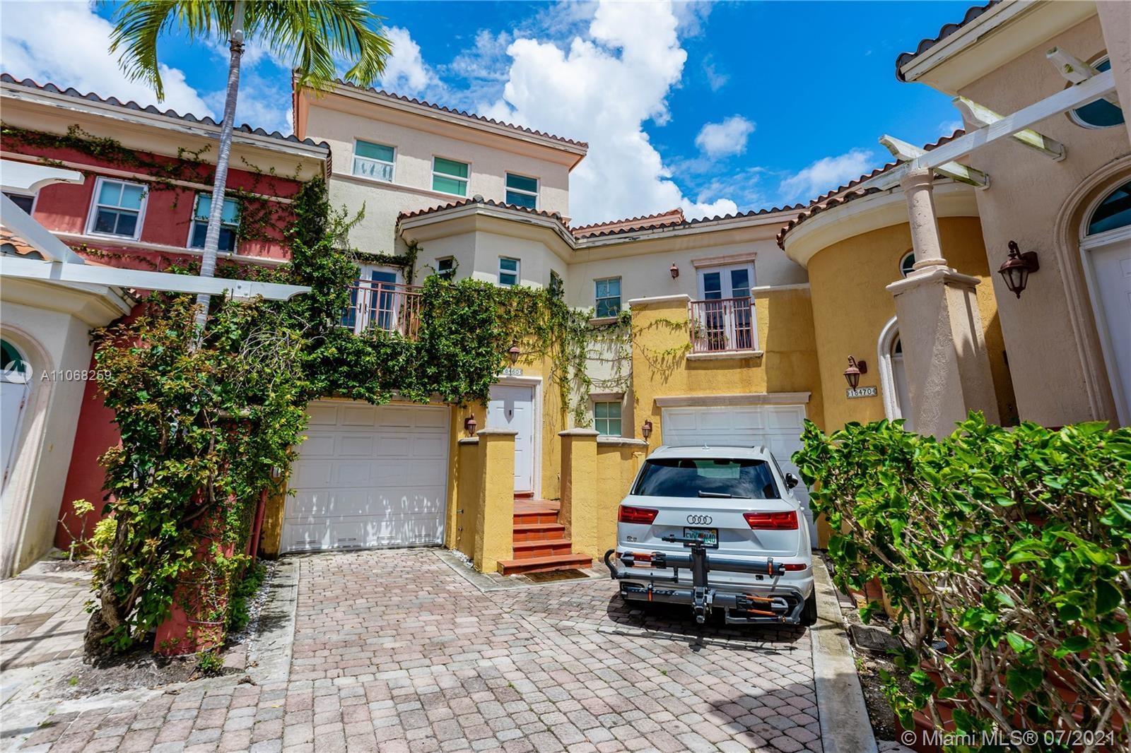 Miami Riches presents completely remodeled 5bed/3.5bath three level townhouse in Aventura Bay. Medit