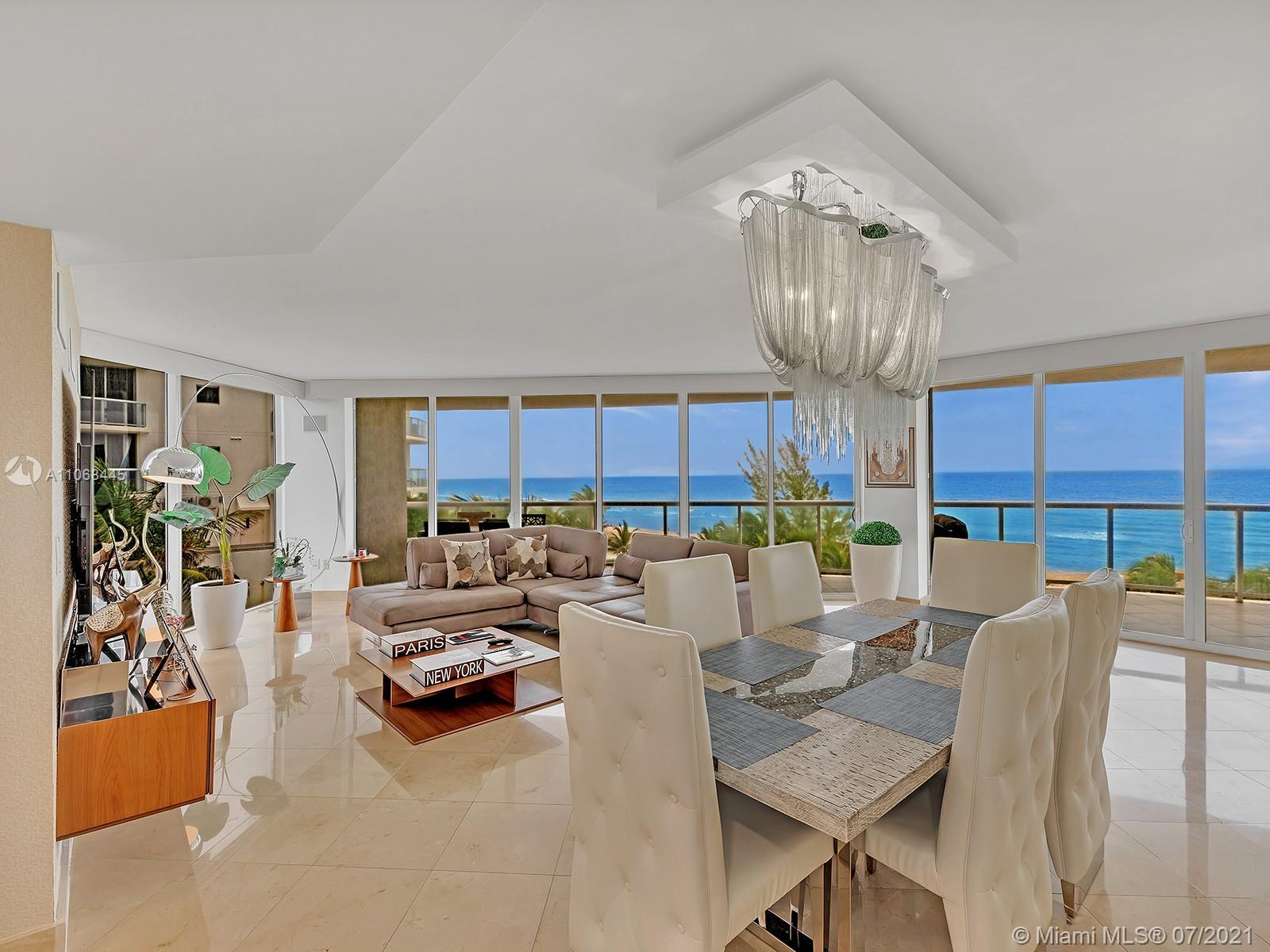 BEST UNIT IN SUNNY ISLES - OCEAN FROM EVERY ROOM, WRAP AROUND BALCONY.   LUXURY LIGHT FIXTURES THRO