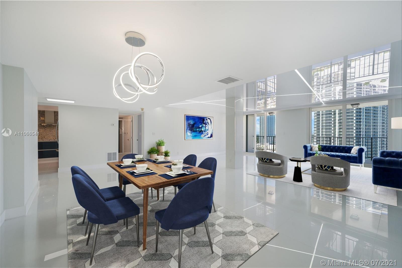 Masterfully remodeled Penthouse in the highly sought after La Mer Estates. Dramatic views greet you
