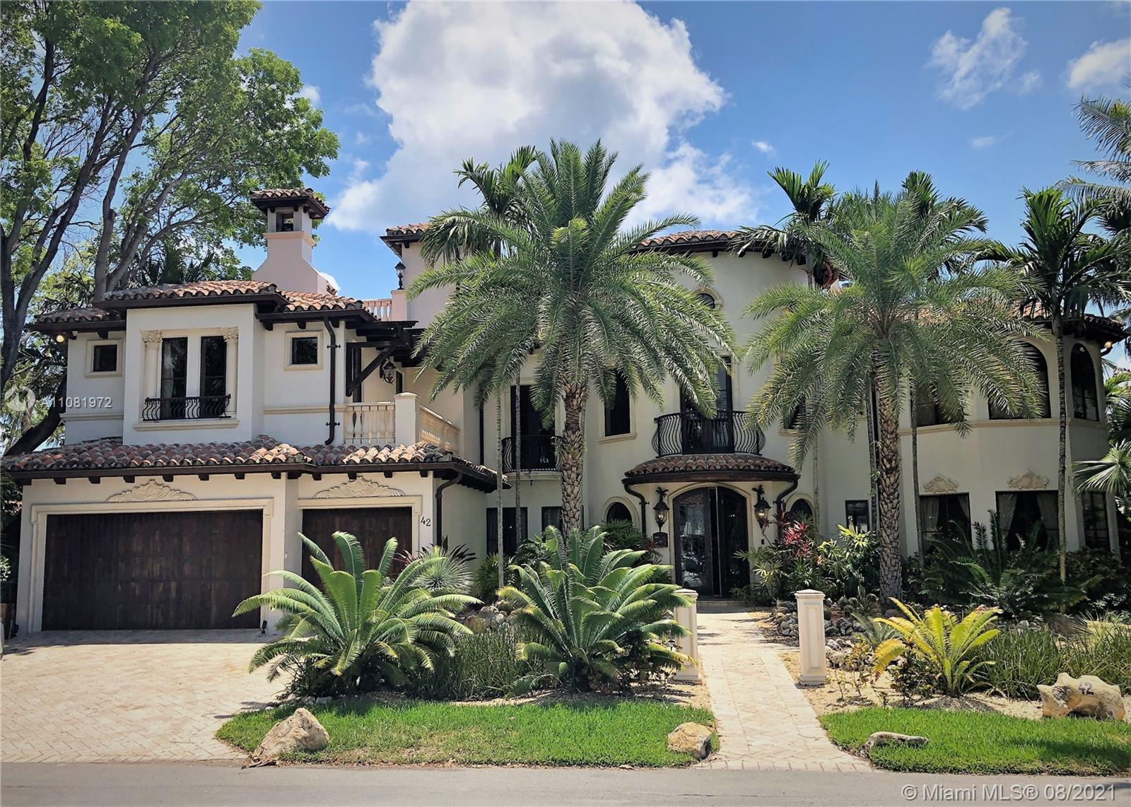 Priced to sell!! Stunning Mediterranean waterfront residence features 6 bed/6 baths, 3 half baths, o