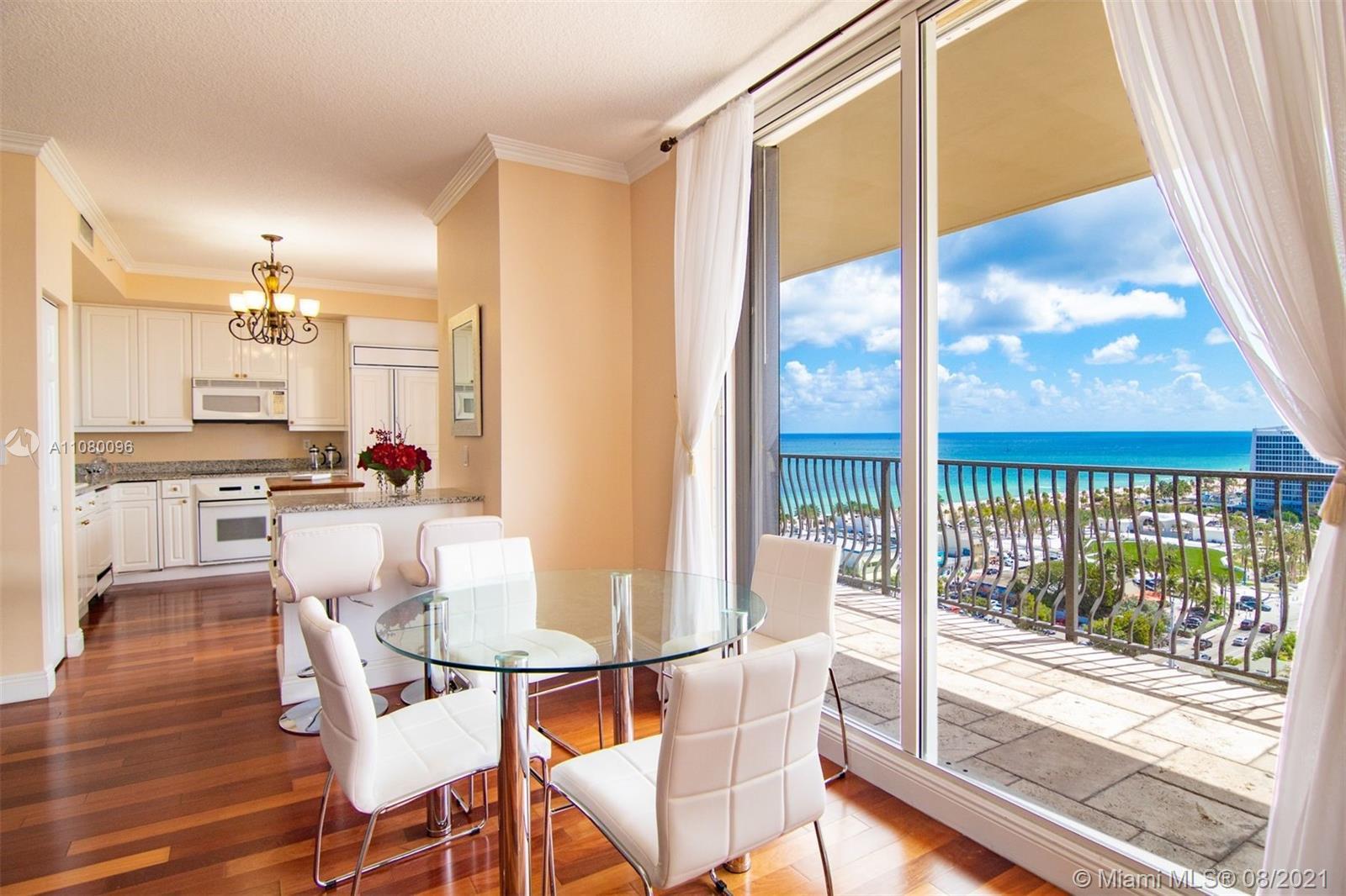 Located steps away from the beach and Las Olas Boulevard, this stunning 2+ Den, 2.5 bath condo insid