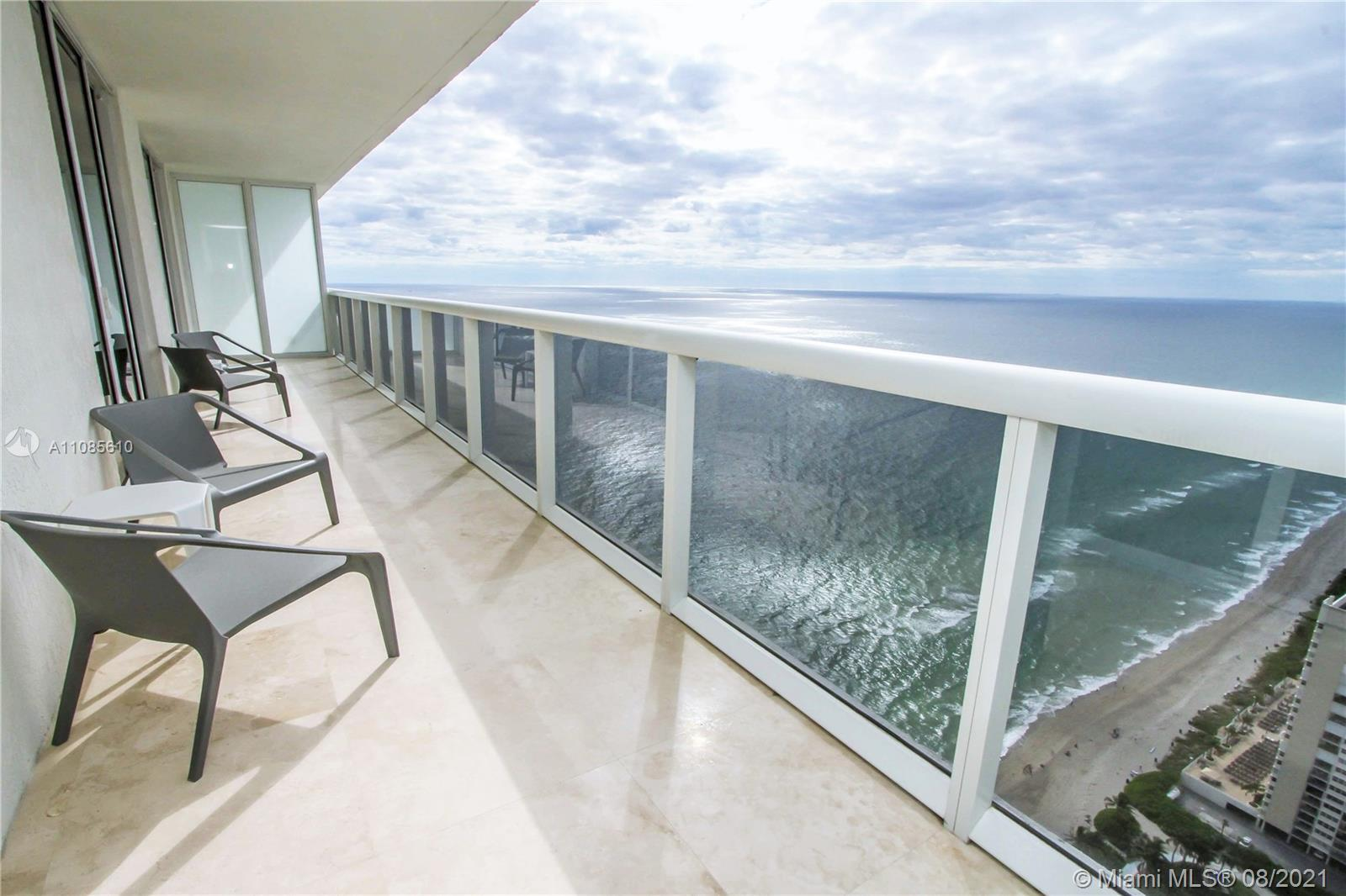 Prestige condo with Amazing views of the Ocean, City, and beyond from the 49th floor 294 SF balcony.