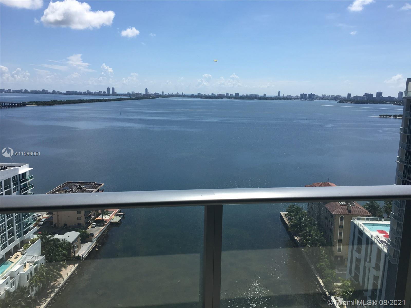 One of the best views of Miami, priced to sell!  Impeccable 2/2 unit, with directly wide open bay v