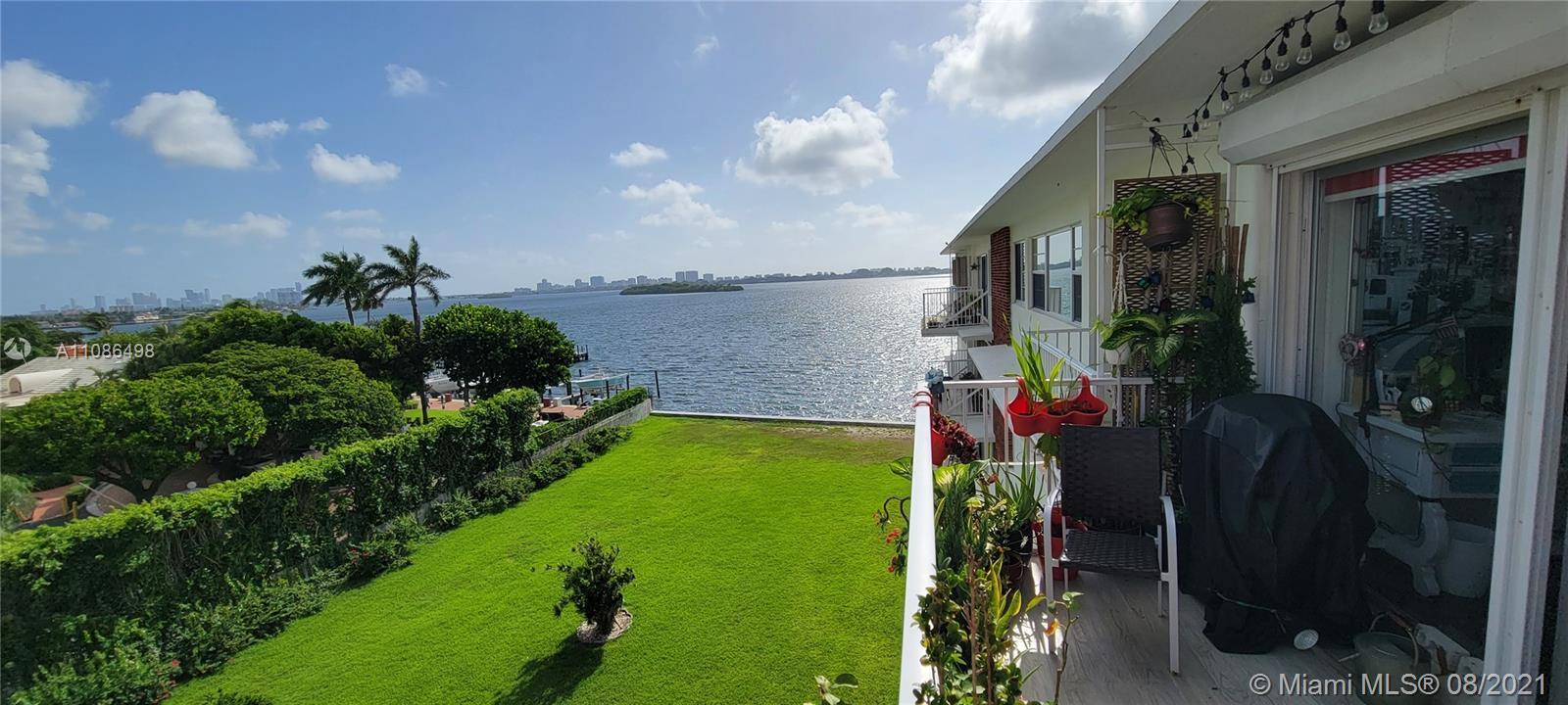 Oversized 1 bed 1.5 baths, top floor condo unit, located in a desirable bayfront building on private