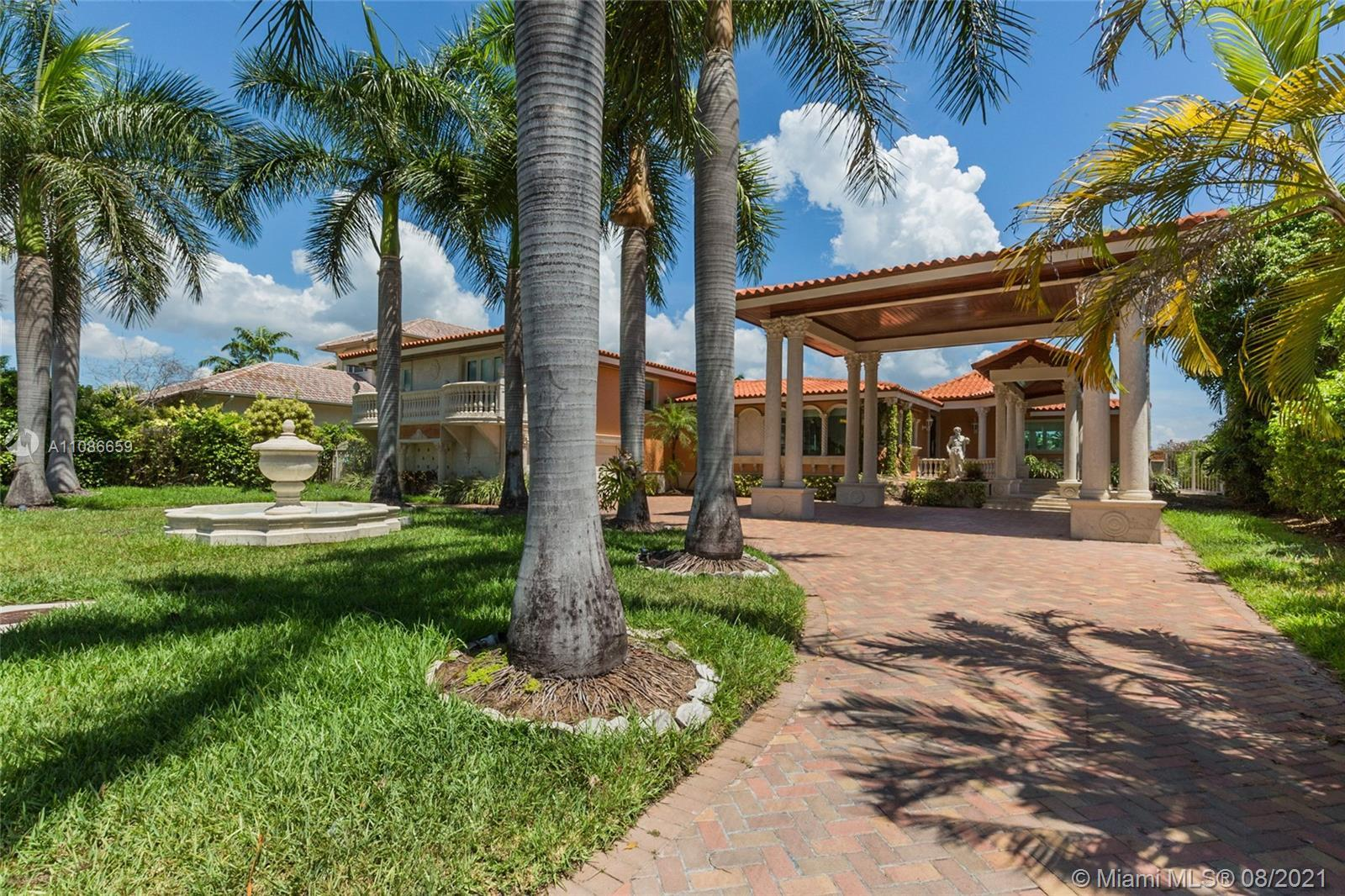 Rarely available Waterfront home located in Surfside. This custom 5 bedroom, 4.5 Bath home is nestle