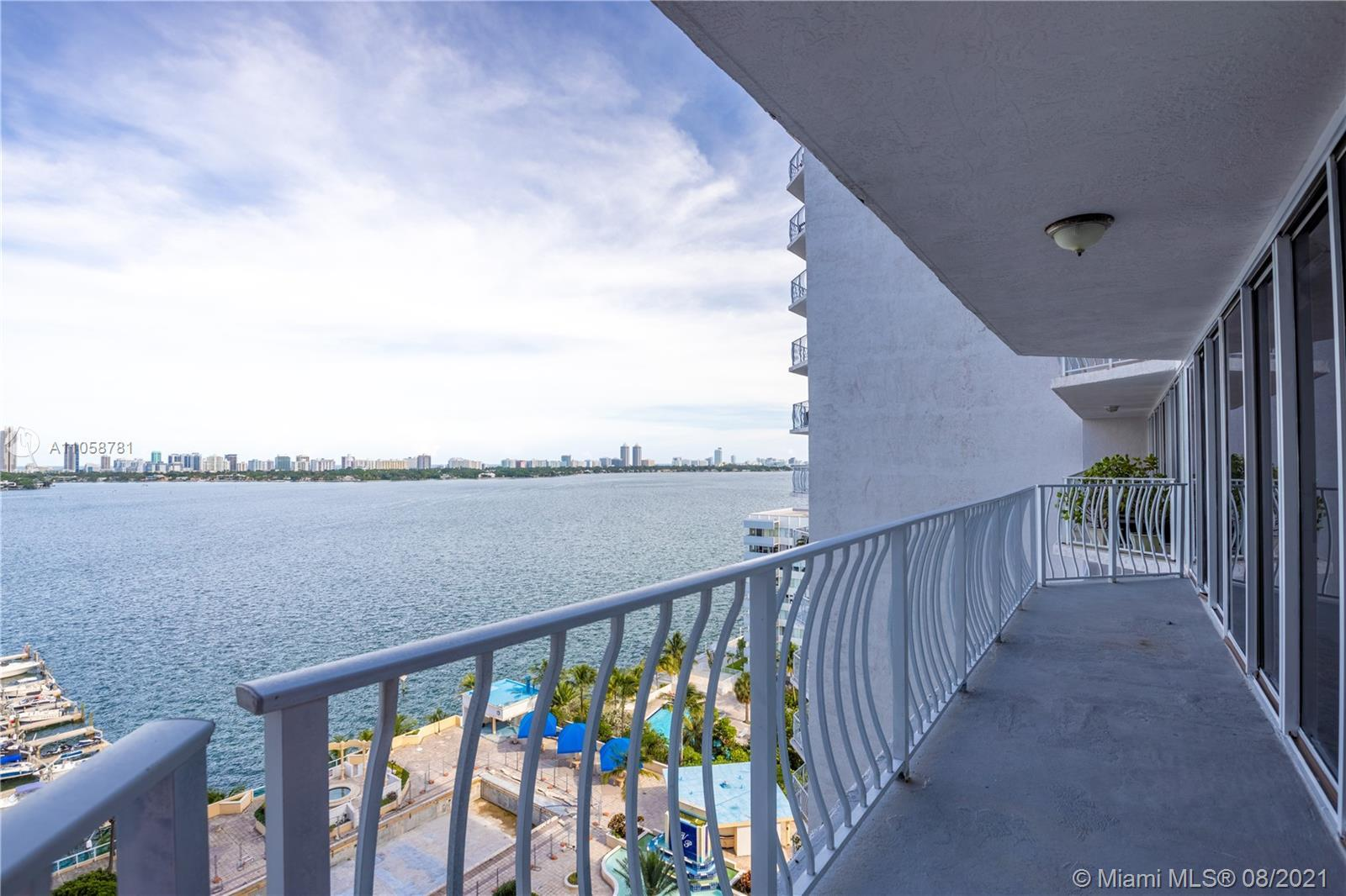 Fabulous one of a kind 2 bed/2 bath, unit in the heart of North Bay Village, Grandview Palace! This