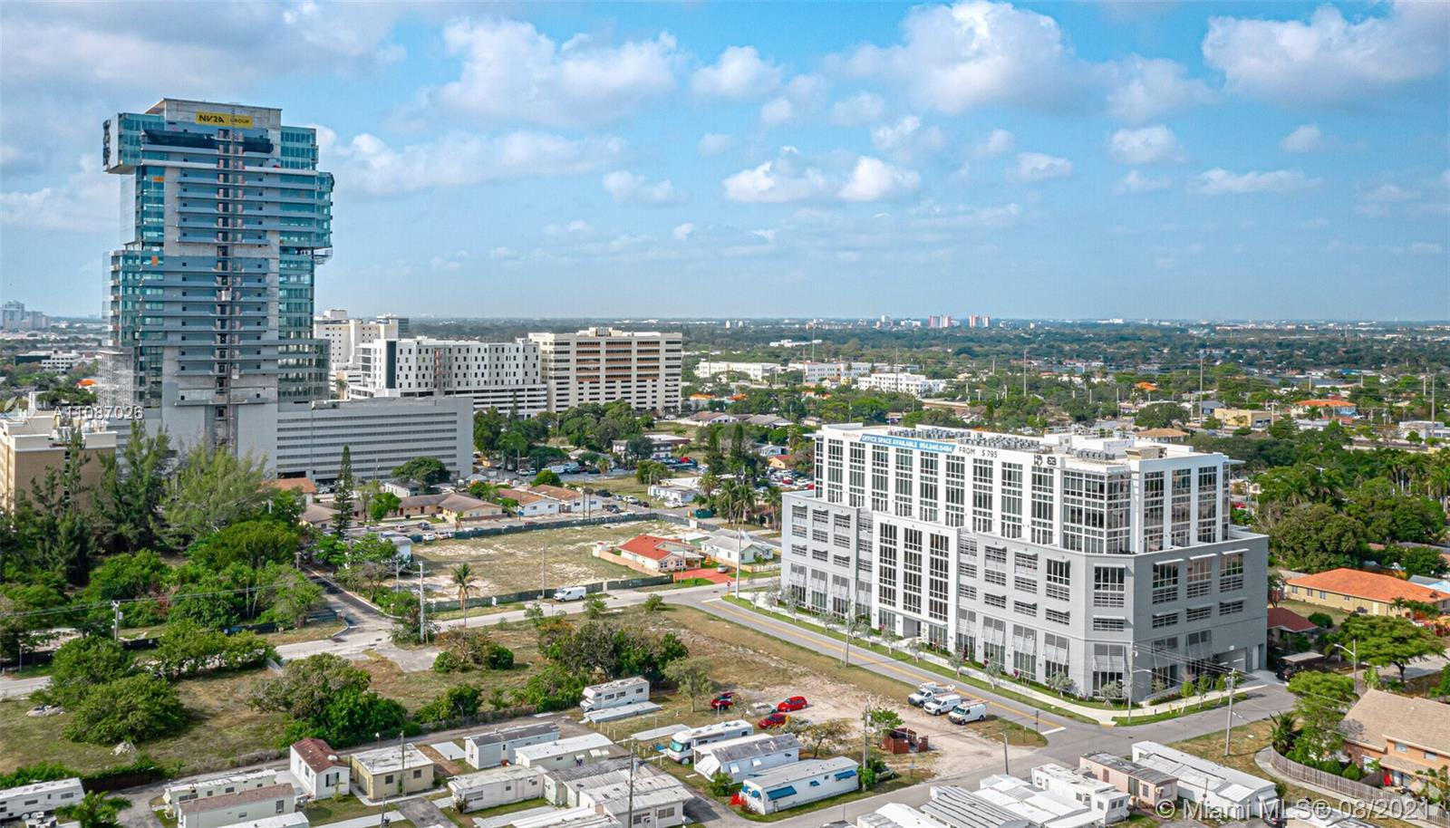 Office space is on the first floor high ceiling, 682sqft for sale The Beacon Hallandale is ideally l