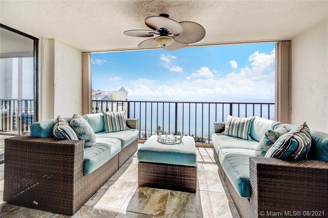 GORGEOUS  DIRECT OCEANFRONT VIEW FROM THIS LOVELY TWO BEDROOM, TWO BATH CONDO. OPEN FLOORPLAN, TILE