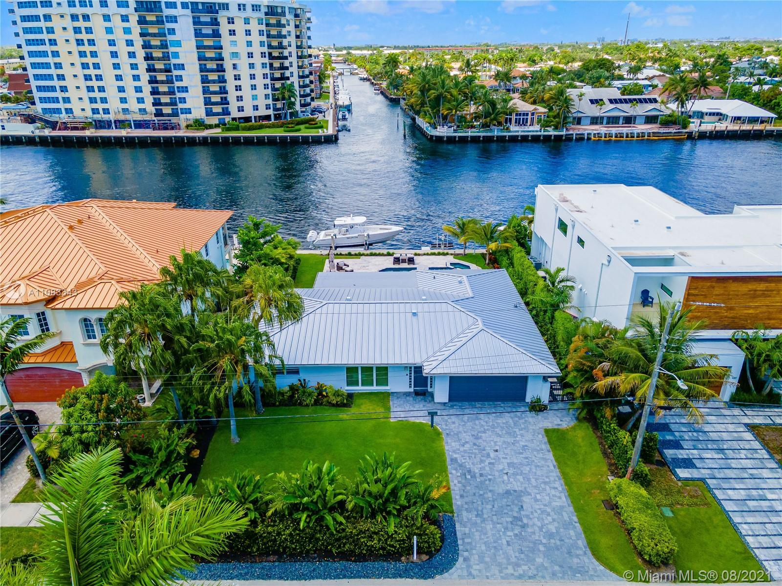 Direct Intracoastal Masterpiece, S. Florida luxury waterfront lifestyle at its best. Completely remo