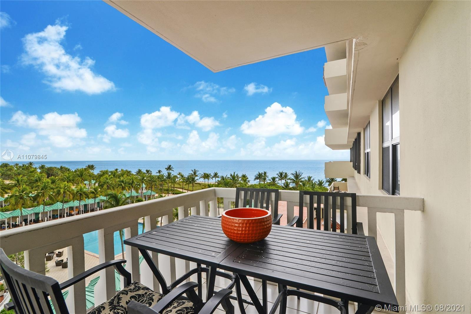 Balmoral Condo at Bal Harbour, Florida. Unit 7C substantially remodeled. Ocean views from all rooms.
