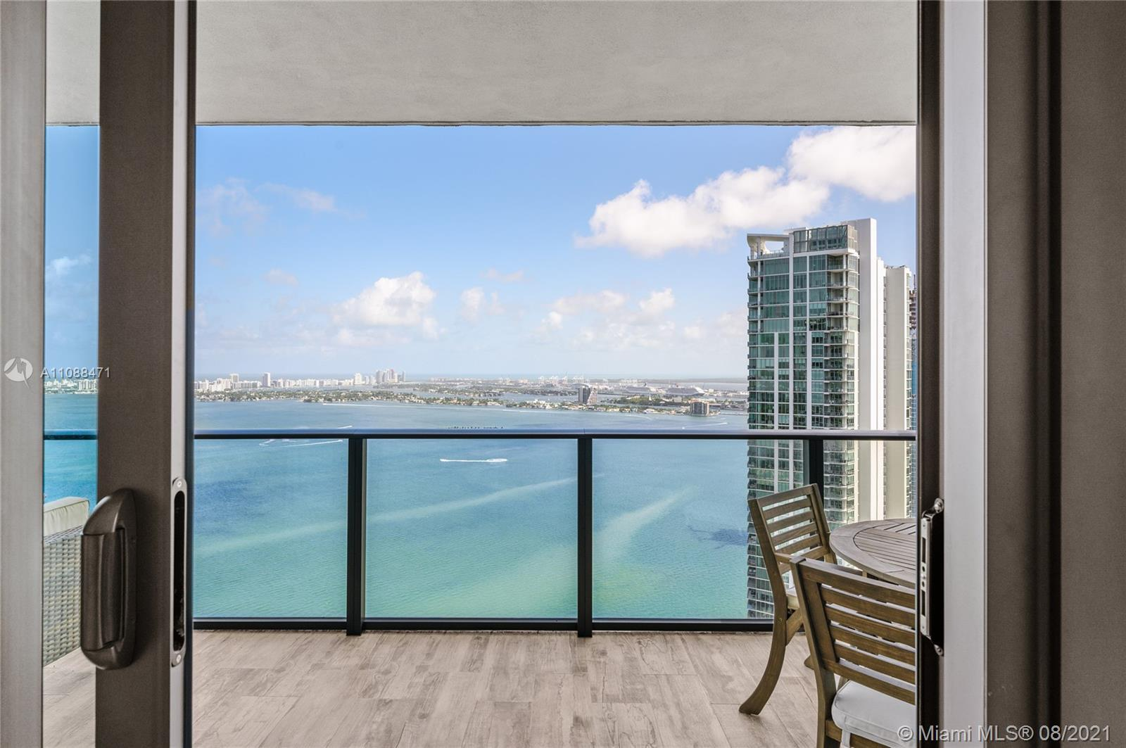 Beautifully Designed 2 bedroom + 2 bathrom Residence, with stunning water views from everywhere. Pri