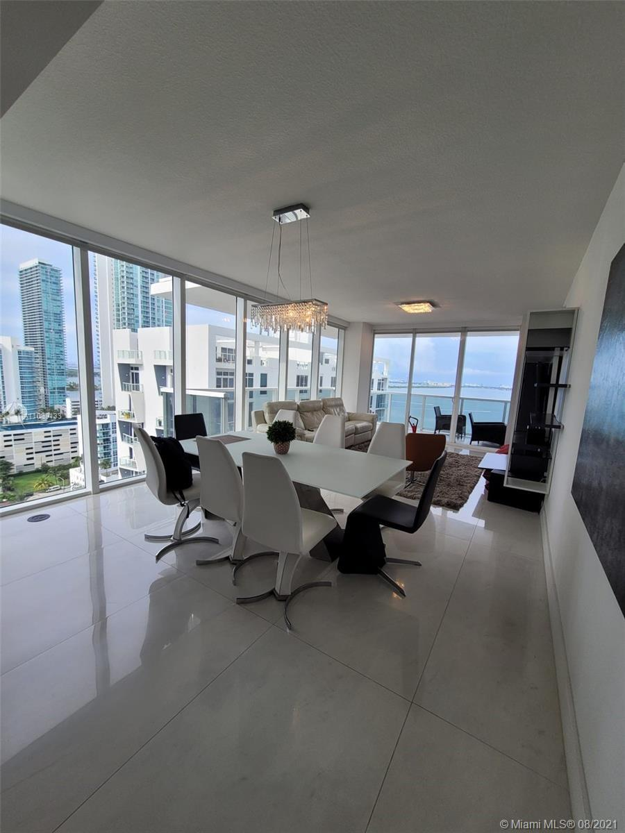 Most desirable line in Bay House now for sale!!! Spectacular views over Biscayne Bay, corner unit wi