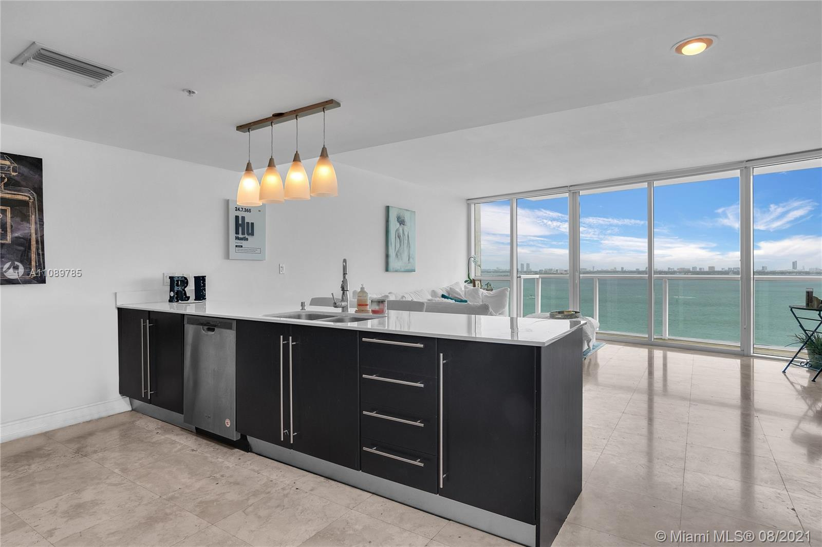 Amazing 1/1.5 DIRECT water views from both living room and Master Bedroom. Super bright, ample close