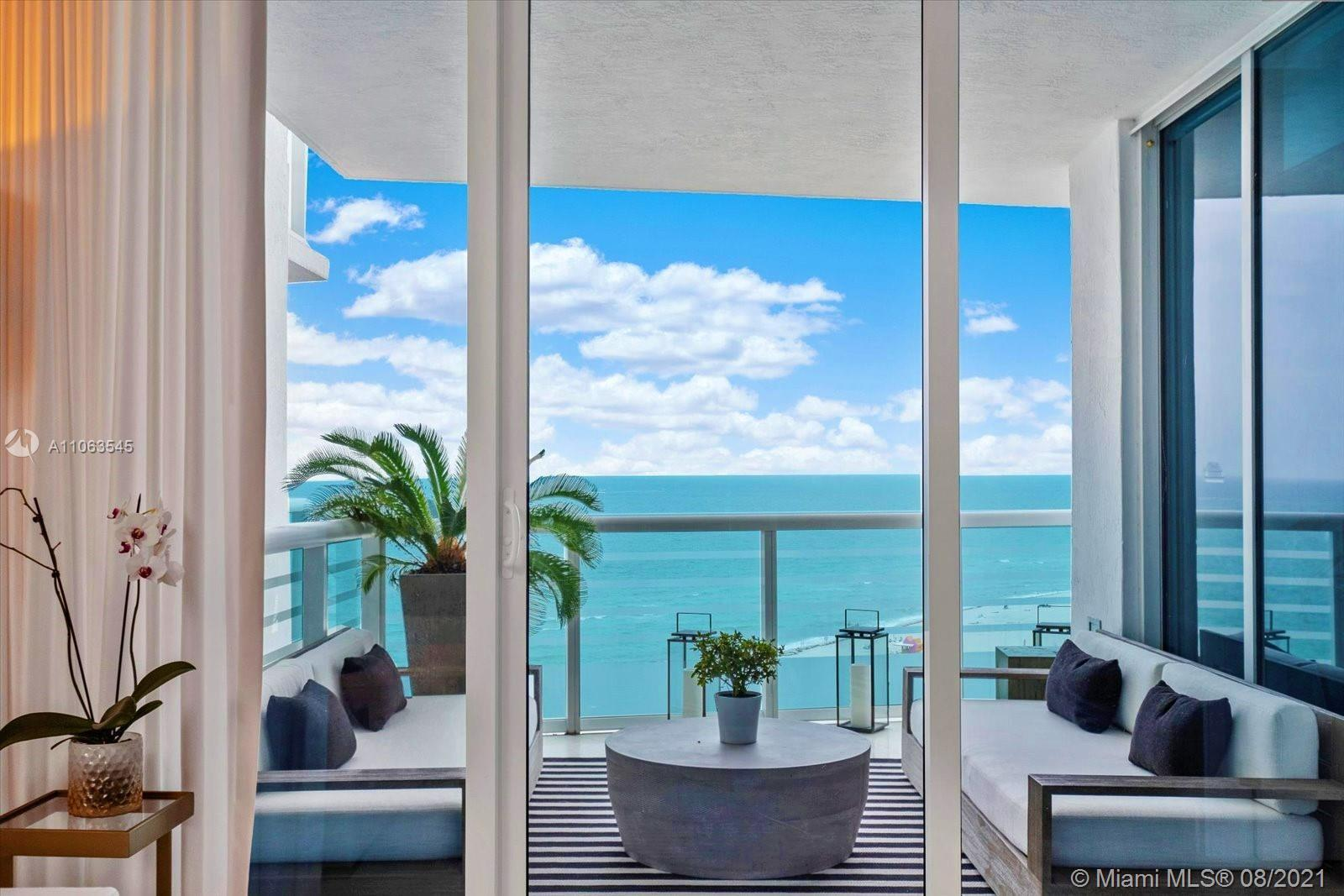 Experience oceanfront living at its finest in a rarely available high floor 2 bedroom unit in the Mo