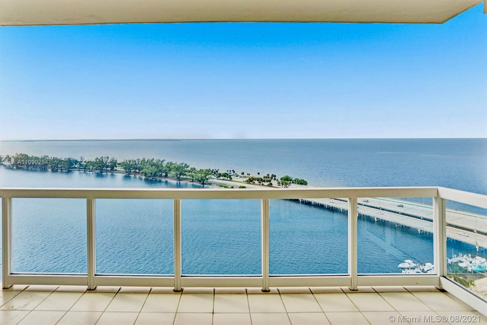 Waterfront condo with the best bay views located in the heart of Brickell!  This 20th floor unit has