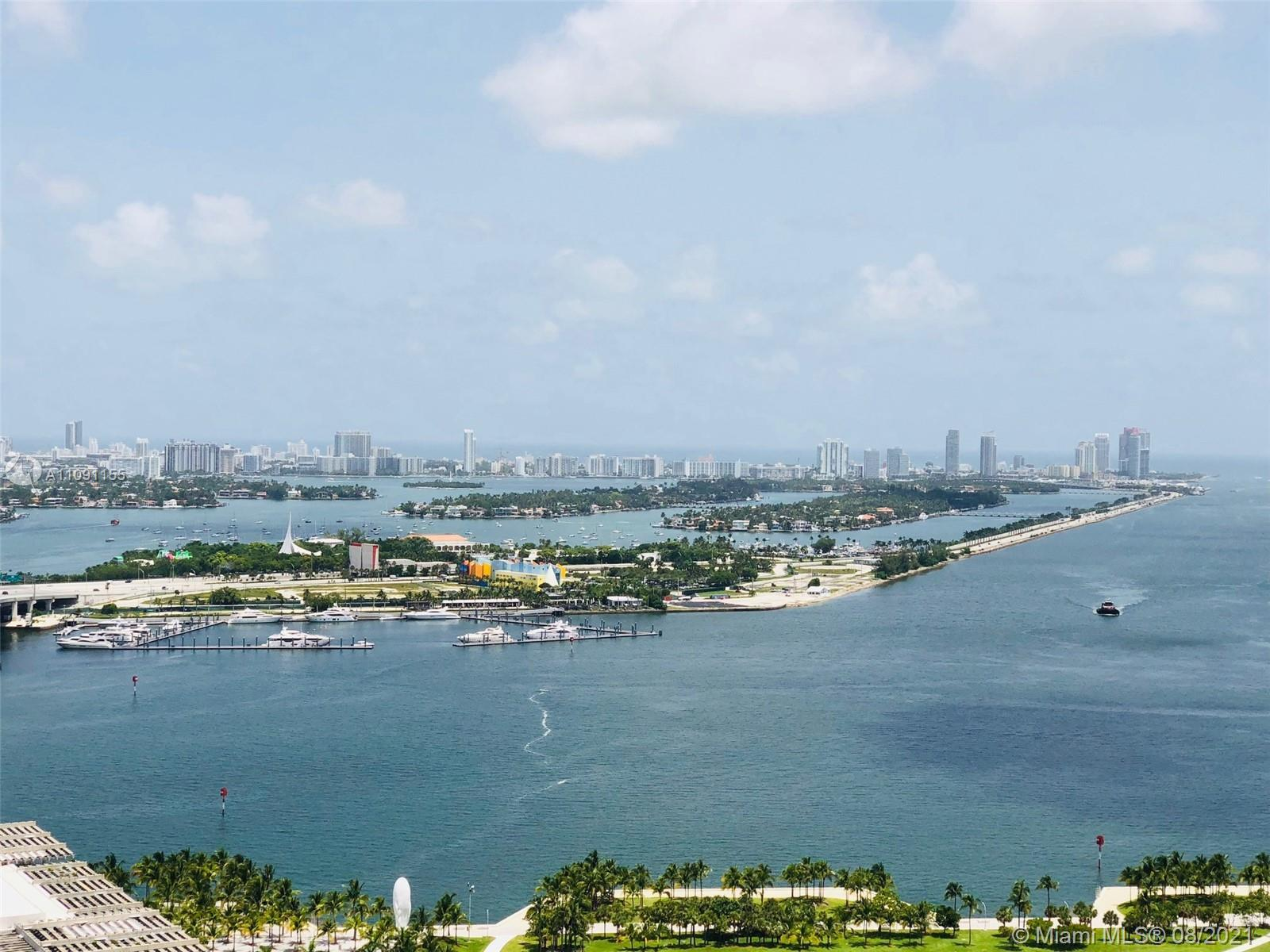 Amazing direct Biscayne Bay and M Beach Skyline views from this incredible bright & modern 2Bed / 2.