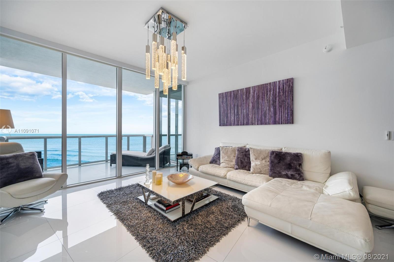 GORGEOUS APARTMENT WITH DIRECT UNOBSTRUCTED OCEAN VIEW AND PARTIAL CITY PANORAMA. FULLY UPGRADED AND
