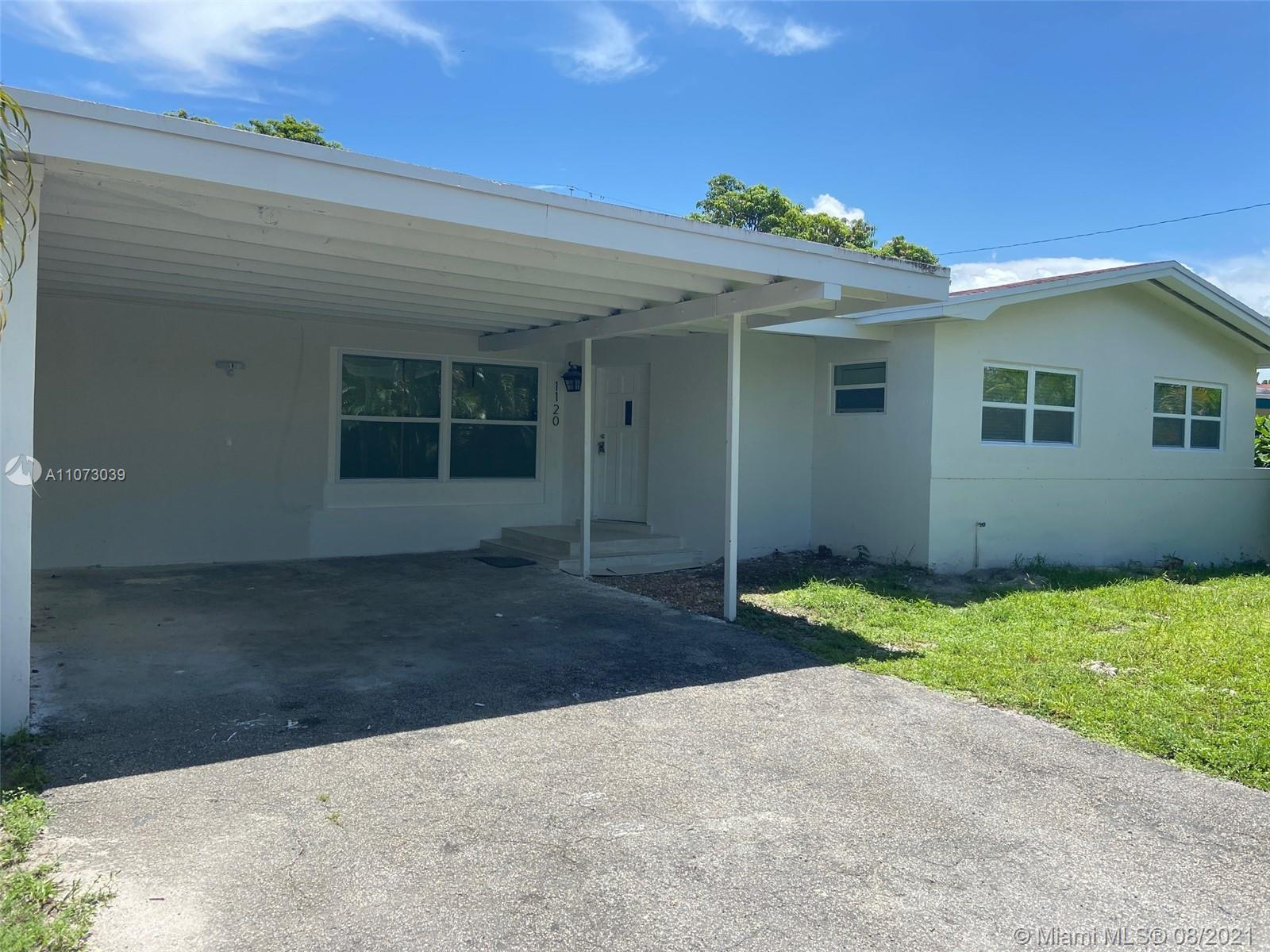 BEAUTIFULLY UPDATED LARGE, CLEAN, AND SPACIOUS, 4/2 BY BISCAYNE PARK. BRAND NEW UPDATED LARGE PORCEL