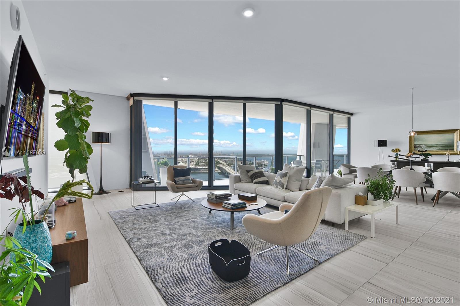 Luxury building One Thousand Museum legendary architecture by Zaha Hadid, Miami's most prestigious r