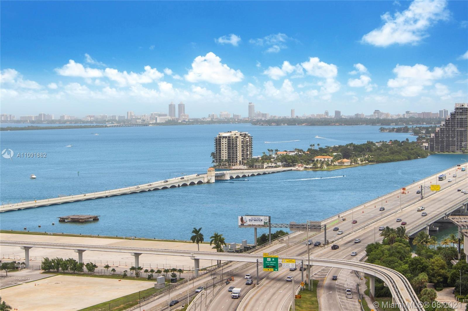 Private elevator access leads directly into the unit. Split floor plan features 10 ft ceilings, an