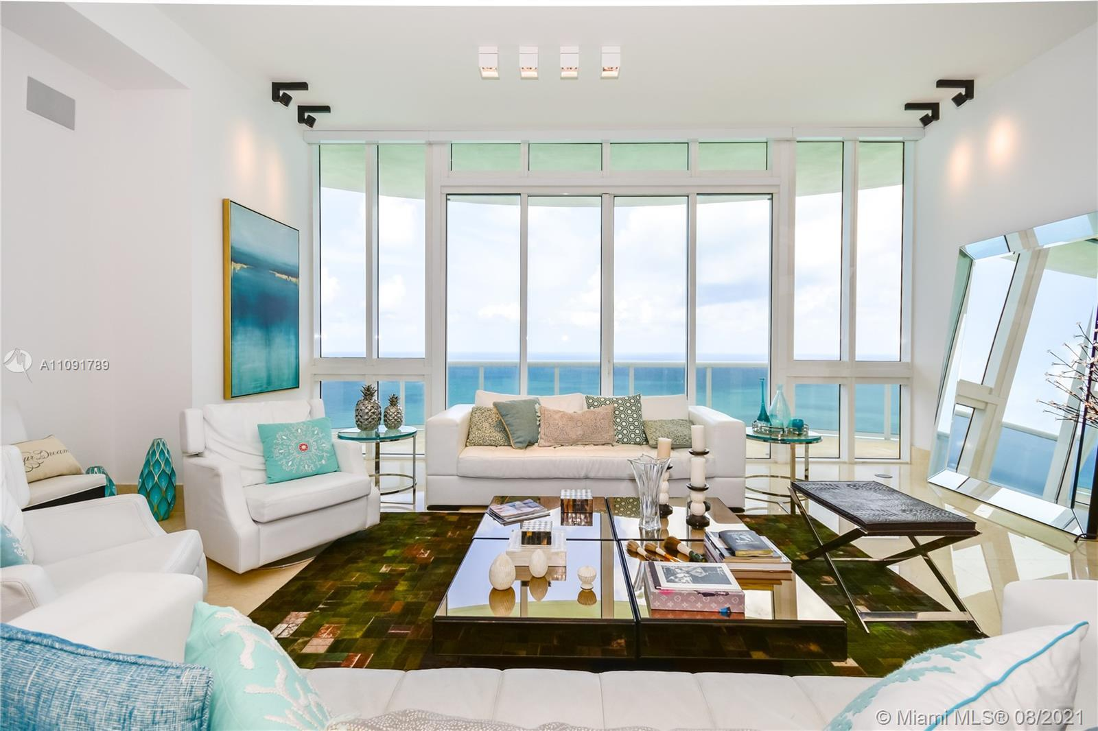 High floor unit with unobstructed ocean views from all three bedrooms and living room. All bedrooms