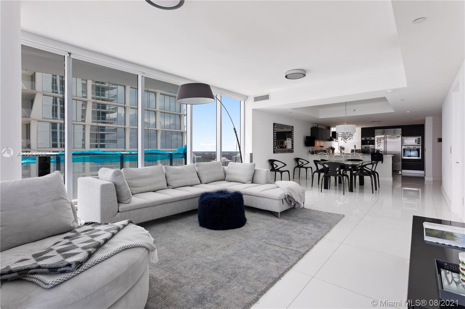 Direct ocean views from this spectacular corner unit on a high floor. Floor through design offers be