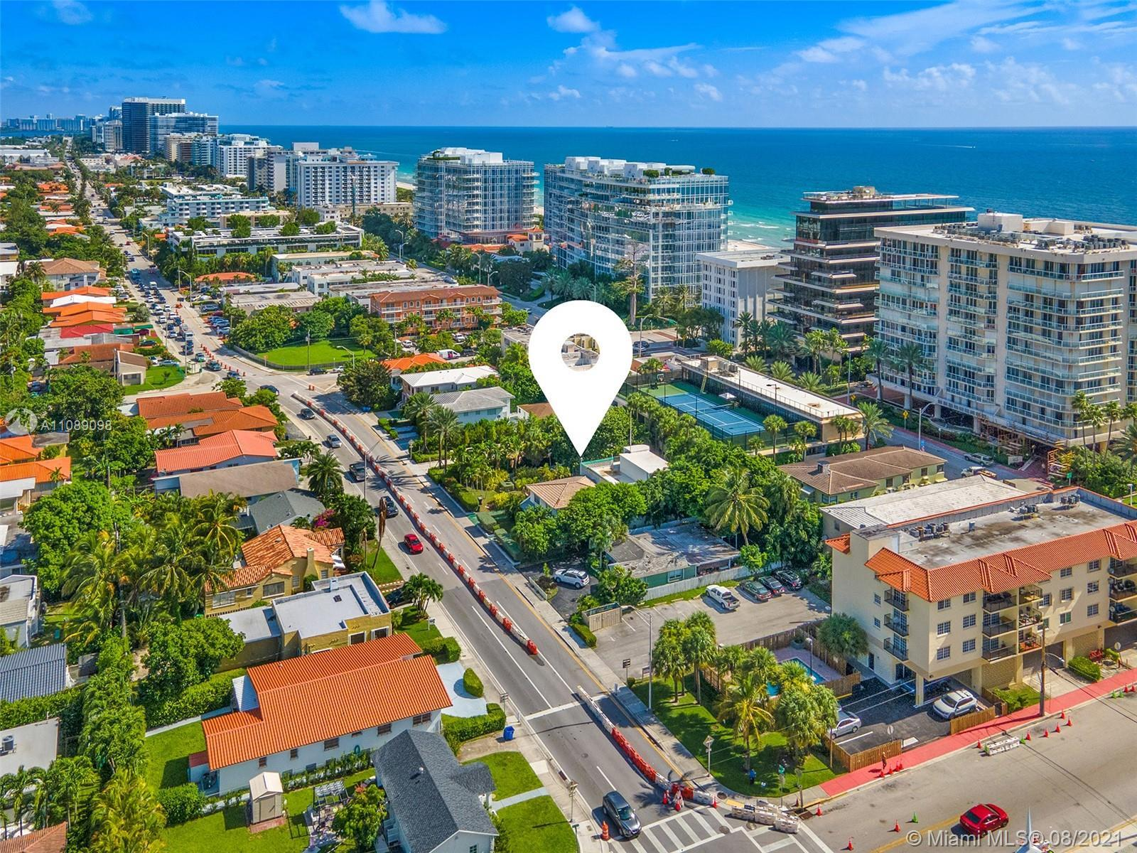 Development site for sale in SURFSIDE, one of the most desirable neighborhoods in Miami Beach. Doubl